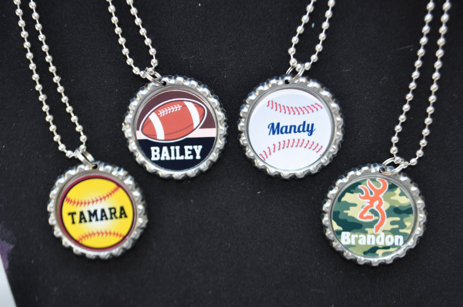 baseball softball jersey lacrosse necklace il number silver basketball fullxfull listing football