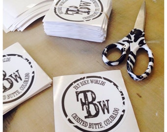 100 custom printed stickers, product labels, logo decals, shaped stickers, vinyl decals, bumper stckers