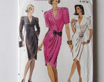 Woman's Front Wrap Dres,s Vintage Vogue 7777, Uncut - OOP