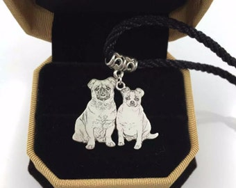 Pet Jewelry, Pet Photo Pendant, Cat and Dog Necklace,Dog Picture Necklace, Valentine's Gift, Pet Memorial for Dog Lovers, Photo Pendant