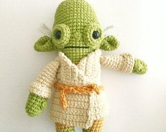 Master Yoda -Crochet Pattern/amigurumi