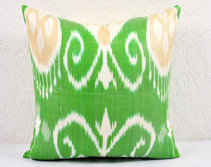 Ikat Pillow, Hand Woven Ikat Pillow Cover IP12 (a406-1aa1), Ikat throw pillows, Designer pillows, Ikat Pillows, Decorative pillows