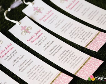 Pink and Gold Bookmarks