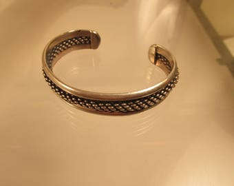 Bracelet Sterling Silver Braised Rope Center @ A Village Coin Bullion 8/22/5 B