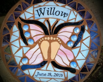 Butterfly Mosaic Memorial Stepping Stone