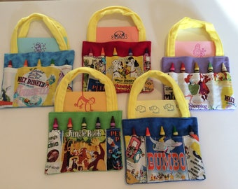 Classic Movies Crayon Bag and Customized Paper, Party Favor