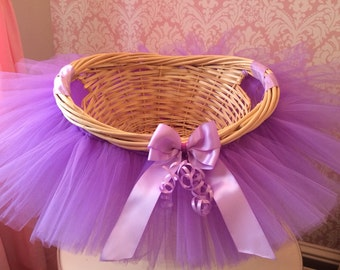 Baby shower basket etsy tutu basket tutu gift basket tutu baby shower basket wedding basket tutu easter basket newborn photo prop basket negle Image collections