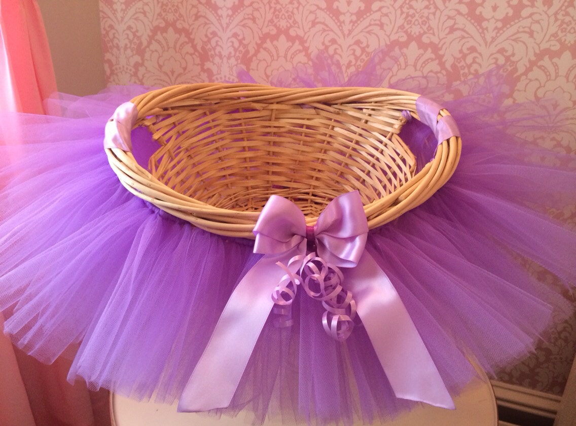 Tutu basket tutu gift basket tutu baby shower basket zoom negle