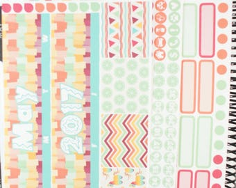 Fiesta Monthly View Planner Stickers (NF539) High Gloss, Semi-Gloss, Matte Planner Stickers