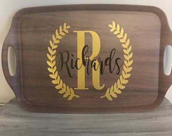 Personalized Serving Tray - Serving Tray - Decor - Wedding Gift - Housewarming Gift