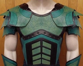 Leather Armor Deluxe Juggernaut Chest, Back, and Shoulders