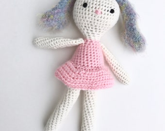 Ballerina Bunny, Stuffed Rabbit, Crochet Bunny, Toy Rabbit, Photo Prop, New Baby Gift, Stuffed Toy Rabbit, Stuffed Toy Bunny, Bunny Rabbit