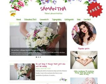 Wordpress Theme - Flowers, WordPress Blog Theme - WordPress Mobile Blog - WordPress Template Blog