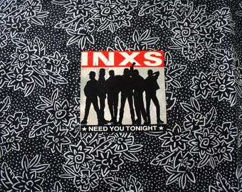 INXS - Need You Tonight Vintage Vinyl 45 EP. INXS 80s Pop Rock Collectible Record. I'm Coming B Side. 80s Inxs Rocker