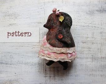 PATTERN for 9 inch artist bear diy teddy bear pattern