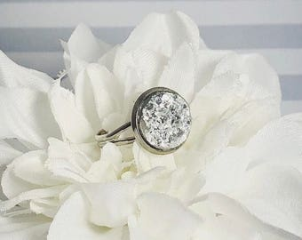 Silver Druzy Ring | Silver Ring | Druzy Ring | Gifts for Her | Silver Jewelry