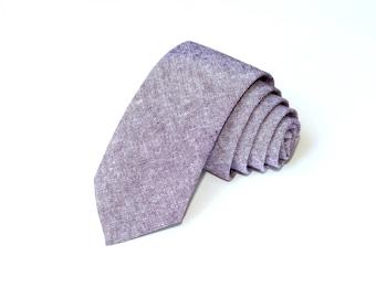 Eggplant  Linen Necktie~Anniversary Gift~Wedding Tie~Mens Gift~Boys Necktie~Mens Necktie~Wedding~HoBo Ties~Mens Tie~Eggplant Wedding