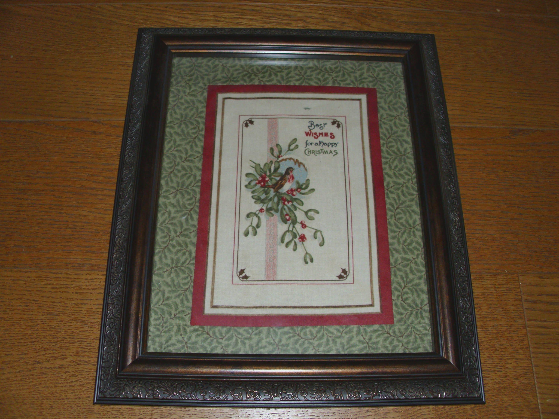 Schöne gerahmte handgefertigte Weihnachtsdekoration Bedruckter