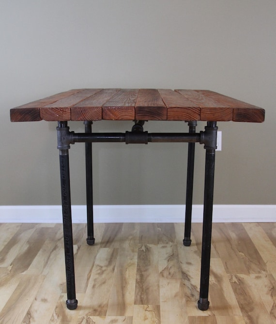 The kitchen table reclaimed wood butcher block pub dining workwithnaturefo