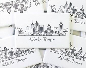 Atlanta, Georgia Skyline Magnet