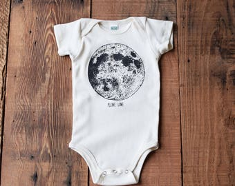 Organic Baby Clothes - Baby One Piece - Screen Printed Baby Clothing - Organic Cotton - Bodysuit - Moon Phase - T Shirt - Toddler Clothes
