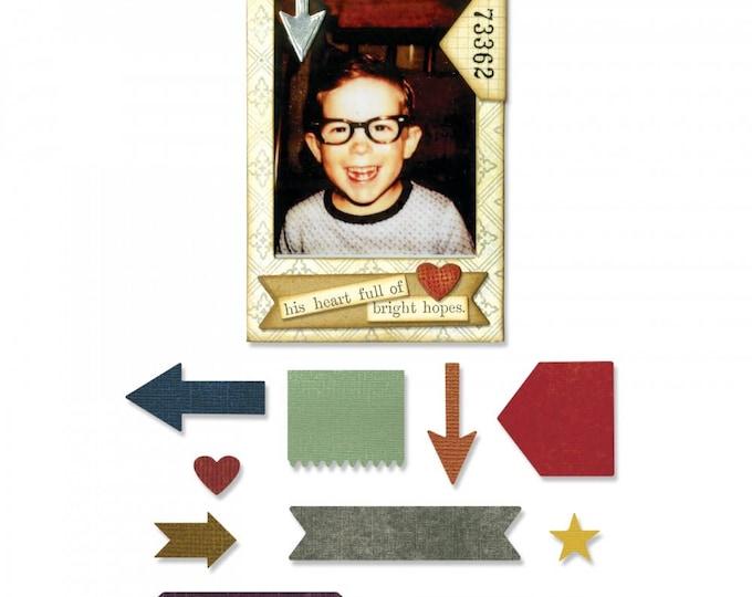 New!  Sizzix Tim Holtz Thinlits Die Set 11PK - Pocket Frame 662690