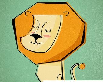 L is for Lion INSTANT DOWNLOAD clip art Print