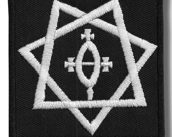 Babylon star - embroidered patch, 8x8 cm