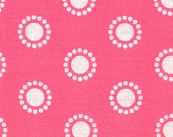 Medallions Fabric, Quilters Showcase Fabric, Pink Floral Fabric Polka Dot Fabric by yard Pink, Cotton Fabric for Girls