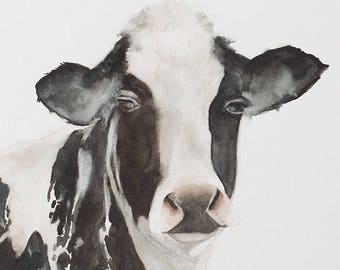 print of cow print cow painting cow Peekaboo nursery art animal print animal peek a boo animal print SEE PHOTOS to view all 15 PRINTS