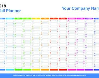 Personalised 2018 Wall Planner