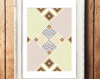 Geometric Design III Cross Stitch Pattern (Digital Download)