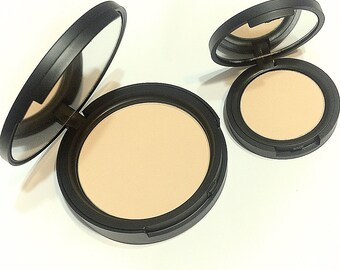 ALMOST ALMOND Natural Mineral Pressed Foundation or Setting Powder - Gluten Free Vegan Makeup