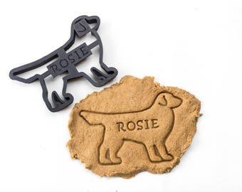 Golden Retriever Cookie Cutter Custom Treat Personalized Pet