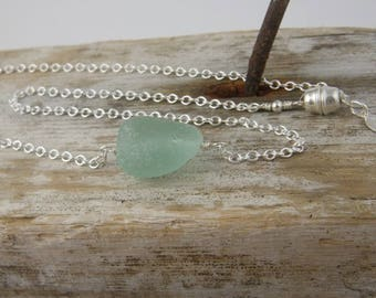 Simple Seafoam Sea Glass necklace