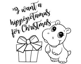 Digi-tizers I want a hippopotamus for Christmas (SVG Studio V3 JPG)