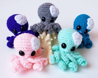 Mini Crochet Octopus, Stuffed Animal Octopus, Mini Plush Octopus, Kid's Birthday Gift, Ocean Animal Toy, Gifts under 30, Amigurumi Octopus