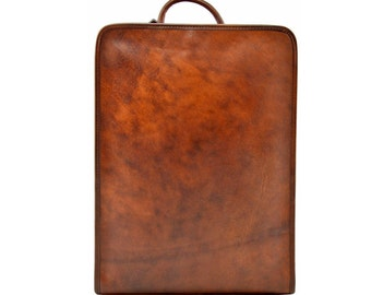 Genuine Leather Backpack with Padded Straps