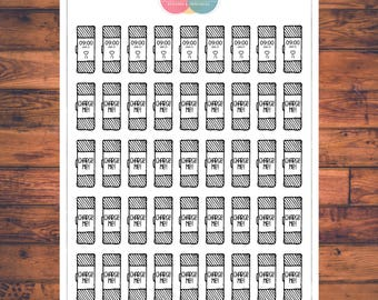 Charge Fitbit Planner Stickers, Doodle Planner Stickers, Running, Exercise (C076)
