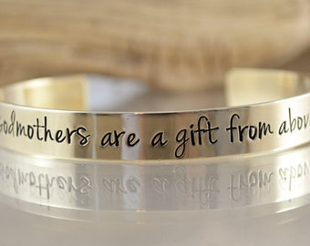 Godmother Gift - Godmother Bracelet - Godmothers Are A Gift From Above - Personalized Bracelet - Godmother Jewelry by Pink Lemon Design