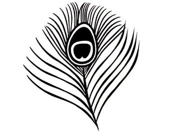 sm. Peacock Eye Feather unmounted rubber stamp wedding, bridal shower, fantasy bird, Sweet Grass Stamps No.20