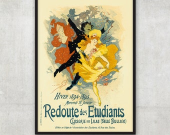 Jules Cheret - Vintage French Poster - Belle Epoque - Home decor - Poster Art - P039