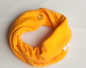 Scarf bib. Stylish drooler bib for little dribblers.Jersey 100% cotton. Baby and toddler. Summer yellow