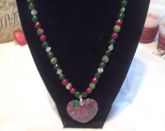 "Rubylicious Emerald Isle Necklace 18"""