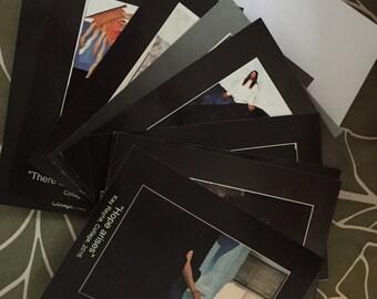 Set of 10 Postcard prints of original artwork, Free shipping