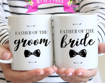 Father of Bride and Groom Gifts, Wedding Gift Ideas for Parents, Father of the Bride, Father of the Groom, Wedding Mug