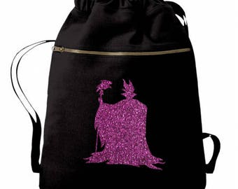 Maleficent - Disney Villain - Maleficent Bag - Sleeping Beauty - Disney Bag - Disney Tote - Disney Backpack - Personalized Bag