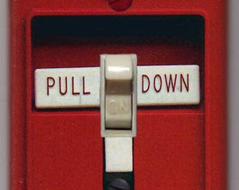 Fire Alarm Light Switch Cover Plate FREE SHIPPING