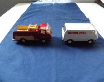 Tonka Fire Truck and Ambulance