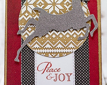 Handmade Peace & Joy Christmas Greetings Card